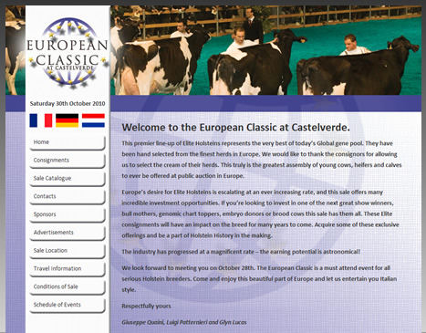 European Classic Example Website